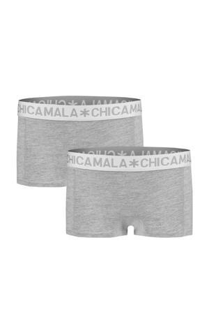 short - set van 2 grijs melange