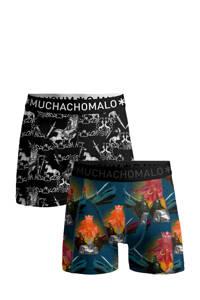 Muchachomalo   boxershort King Arthur - set van 2, Zwart/blauw/multicolor