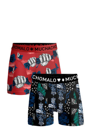 Junior  boxershort Money&Gamble - set van 2 rood/donkerblauw