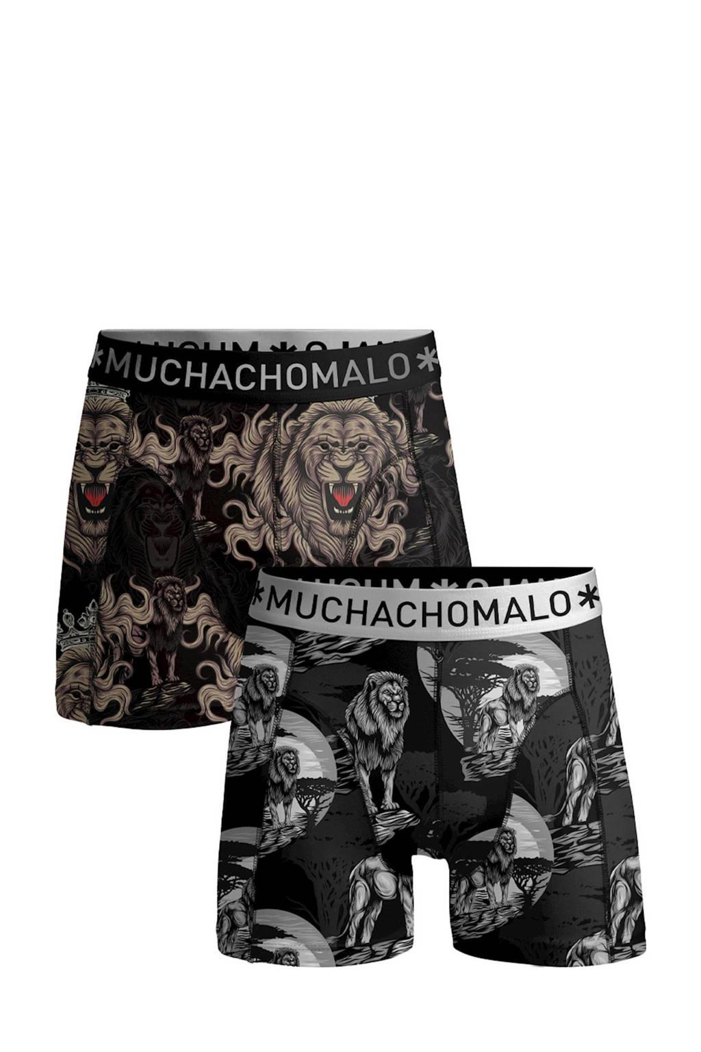 Muchachomalo   boxershort Lion King - set van 2, Zwart/grijs/bruin