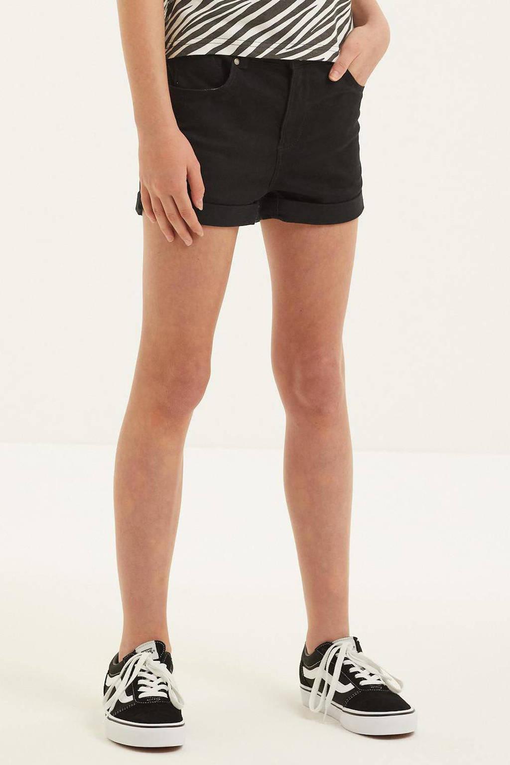 WE Fashion Blue Ridge jeans short zwart, Zwart