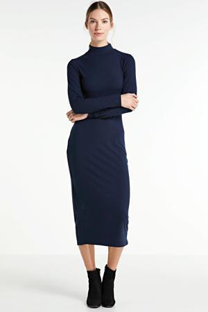 midi jurk donkerblauw