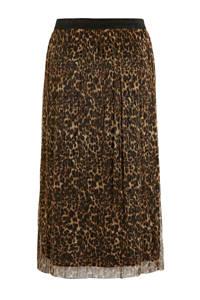 Julipa rok met panterprint en glitters bruin/zwart/beige, Bruin/zwart/beige