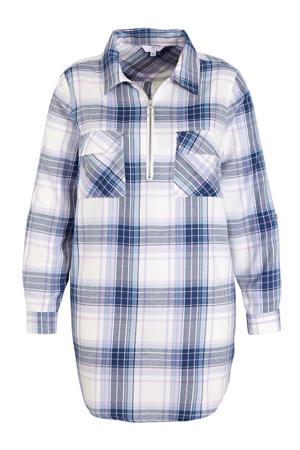 geruite blouse wit/blauw