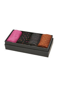 SELECTED FEMME giftbox sokken - set van 4 multi, Multi