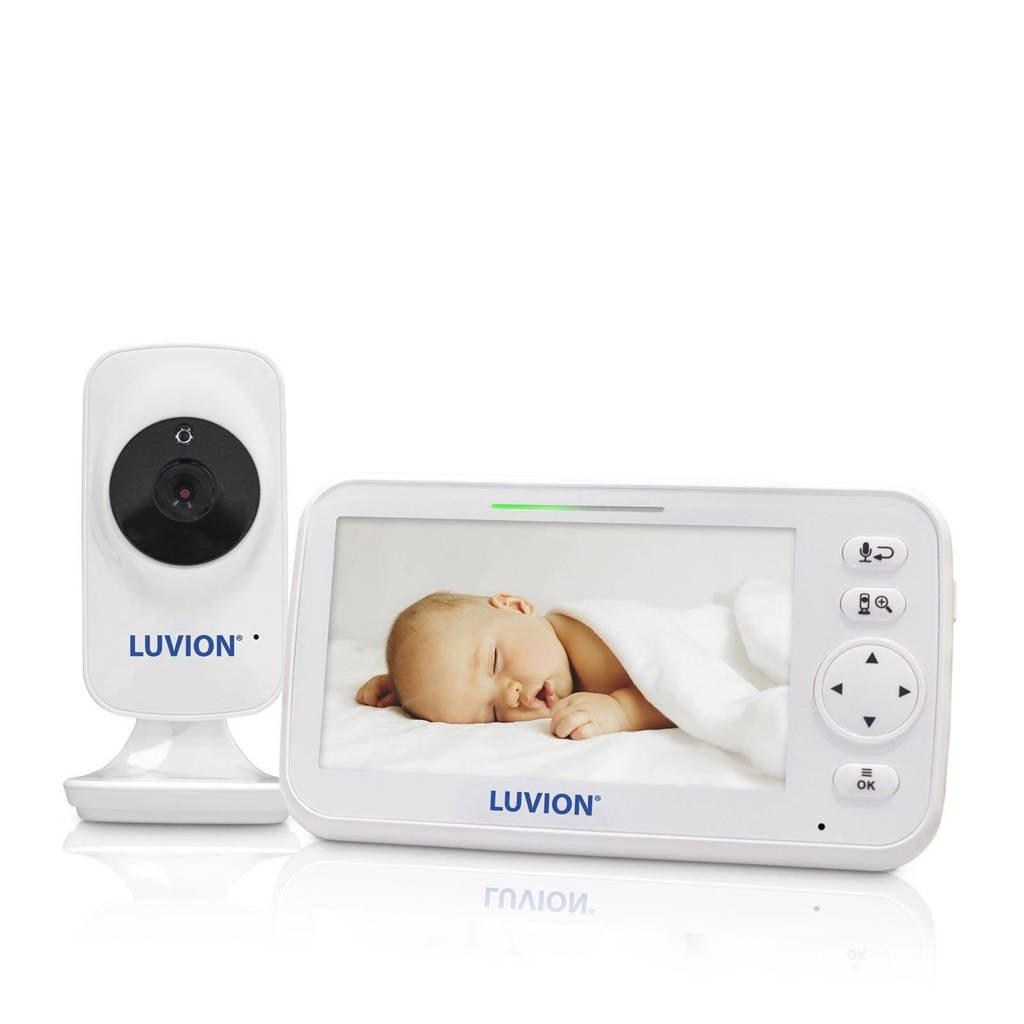 """Luvion Icon Deluxe babyfoon met camera en 5"""" kleurenscherm, Wit"""