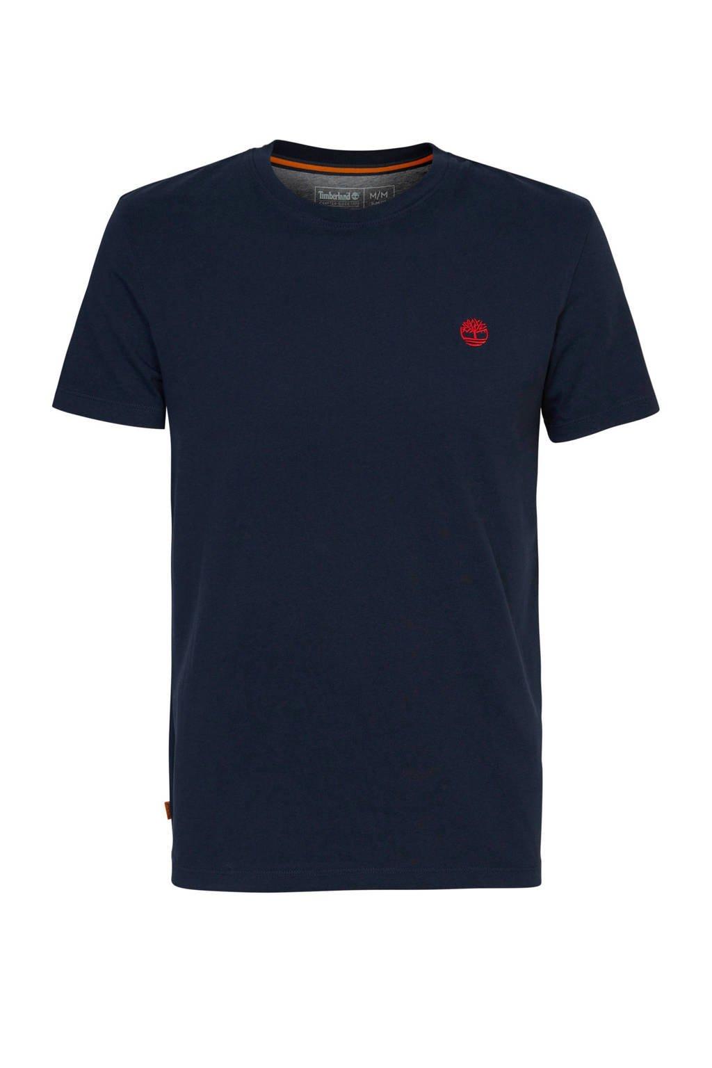 Timberland T-shirt donkerblauw, Donkerblauw