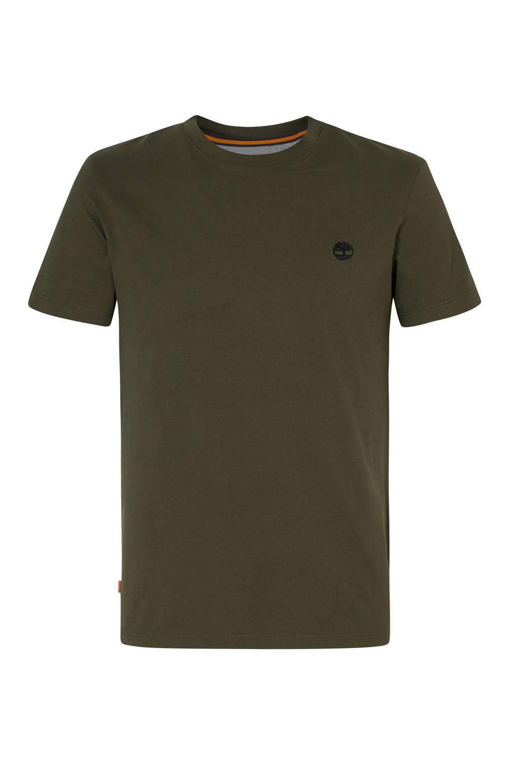 Timberland T-shirt donkergroen, Donkergroen