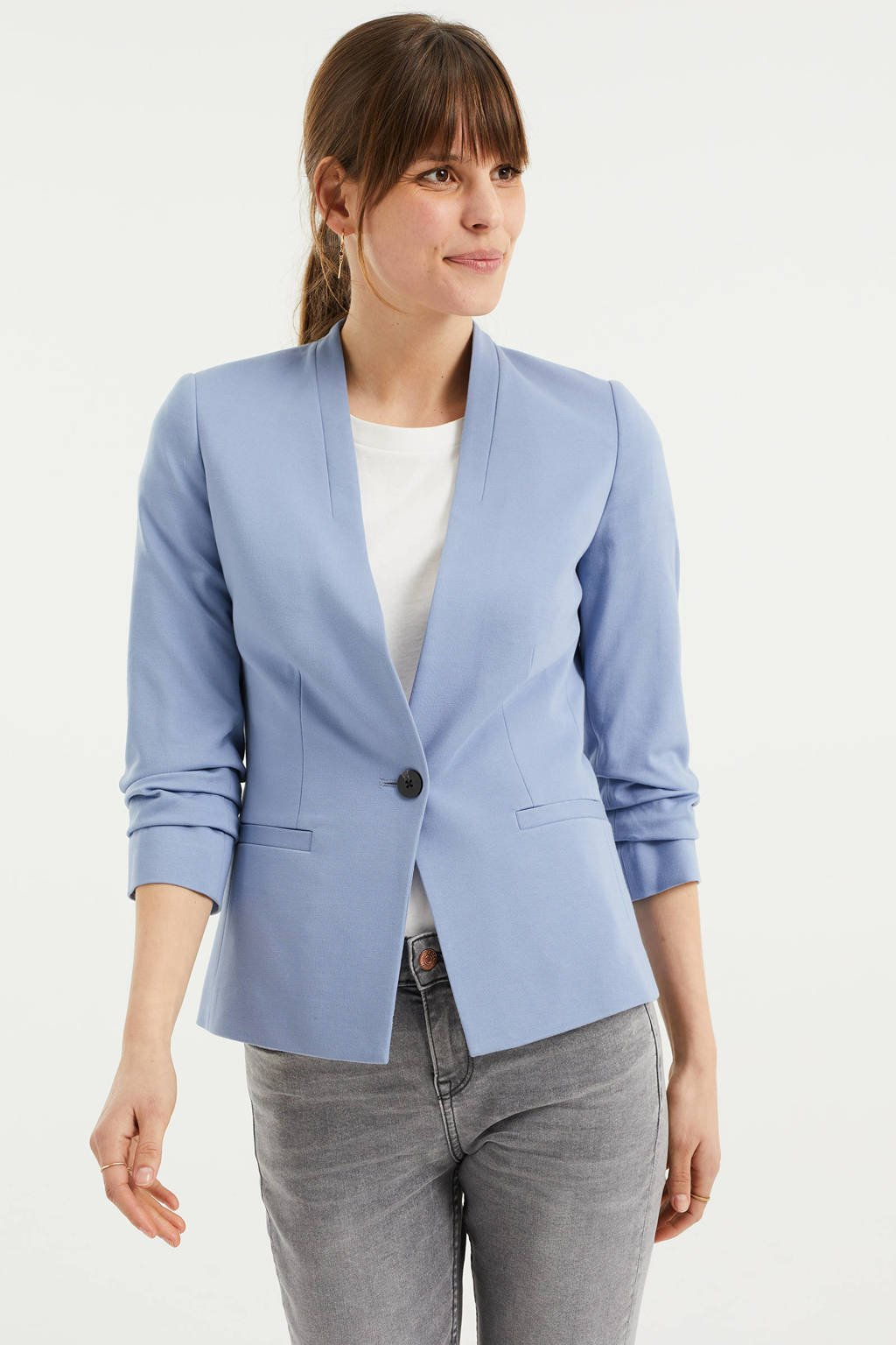 WE Fashion blazer lichtblauw, Lichtblauw