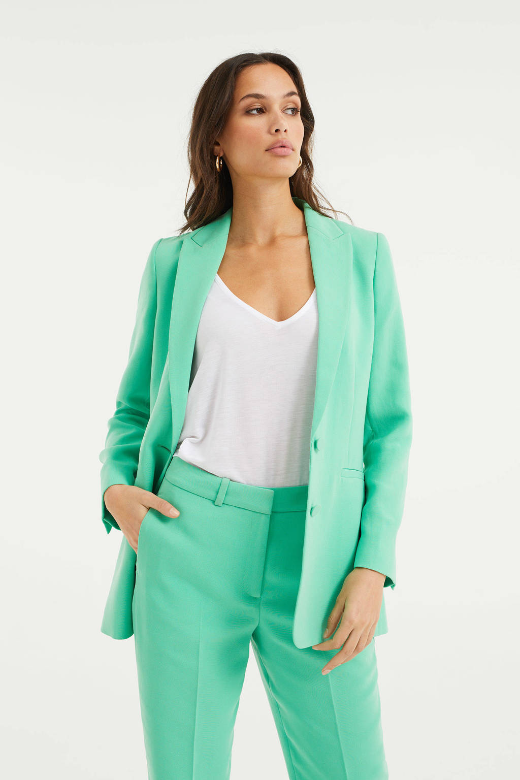 WE Fashion blazer groen, Groen