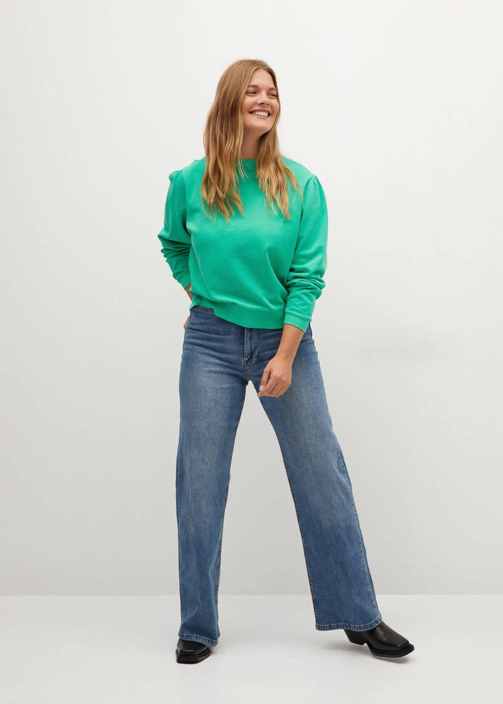Violeta by Mango sweater groen, Groen