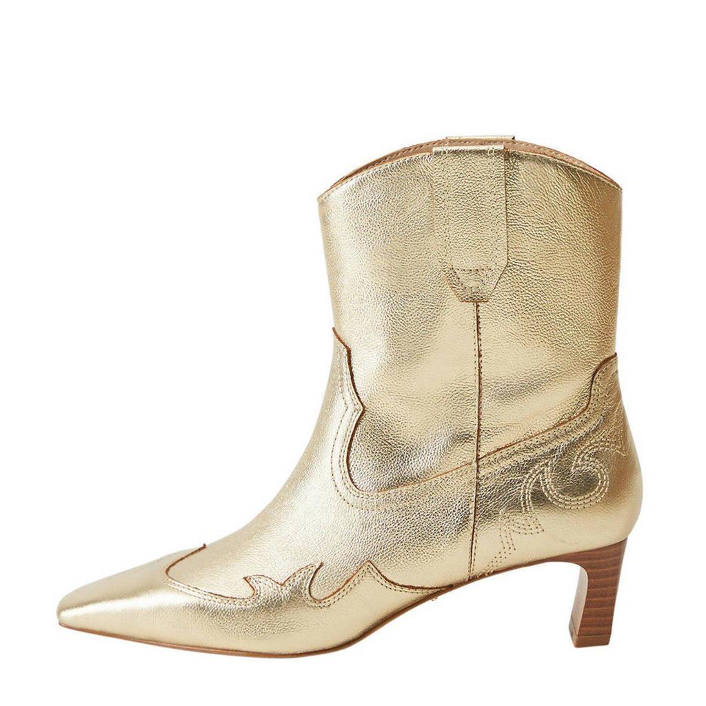 Violeta by Mango   leren cowboylaarzen goud, Goud