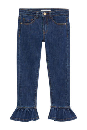 cropped slim fit jeans donkerblauw