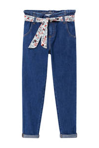 Mango Kids mom jeans dark denim, Dark denim