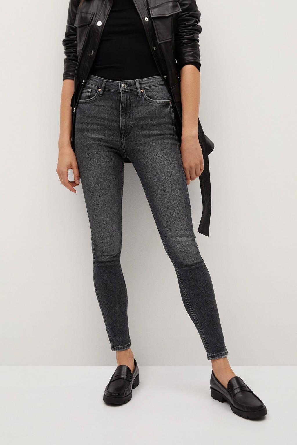 Mango skinny jeans donkergrijs, Donkergrijs