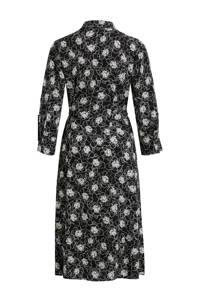 OBJECT jurk met all over print zwart/wit, Zwart/wit