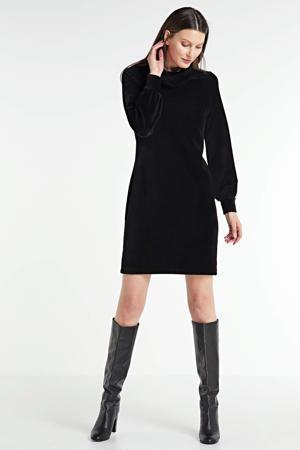 velvet corduroy jurk zwart