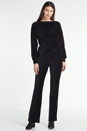 flared corduroy legging zwart
