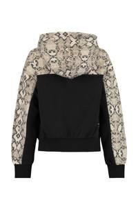 CoolCat Junior hoodie Sari zwart/beige, Zwart/beige