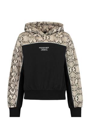 hoodie Sari zwart/beige