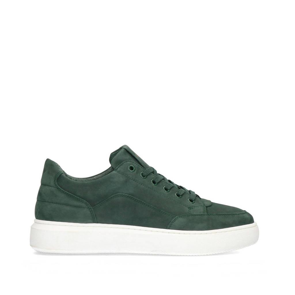 Manfield   suède sneakers groen, Groen