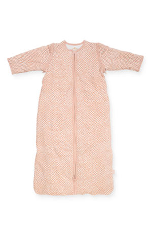 baby slaapzak Snake pale pink met afritsbare mouw