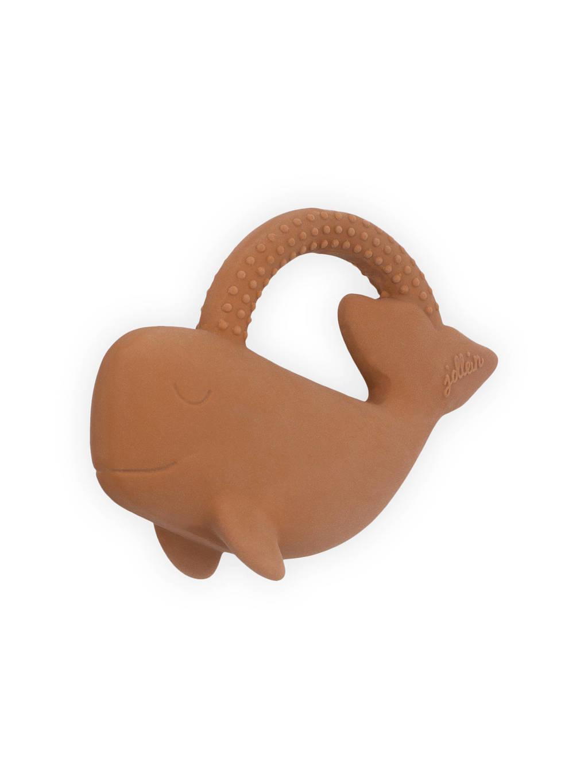 Jollein bijtring rubber Whale caramel, Caramel