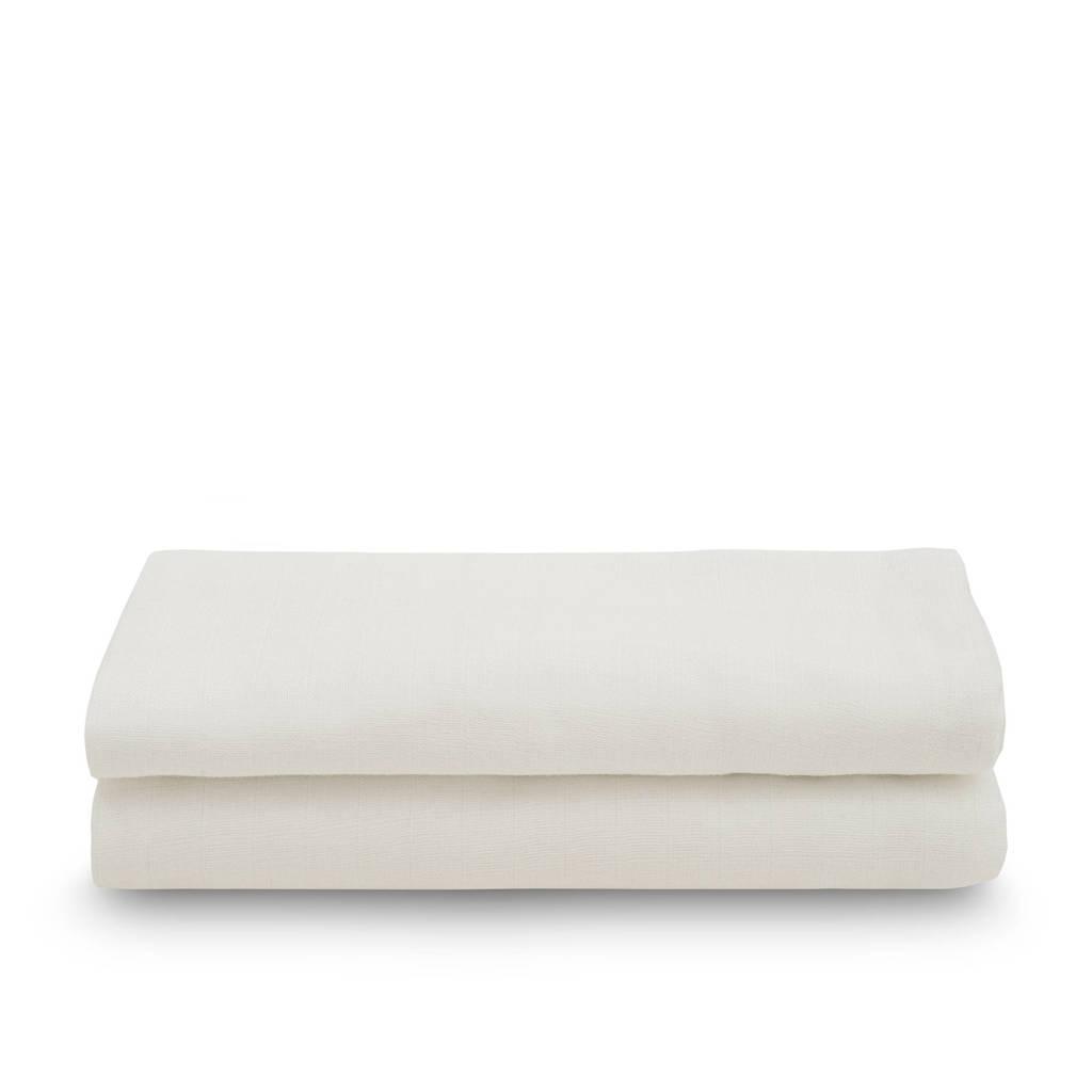 Jollein hydrofiel multidoek large 115x115cm - set van 2 Snake white, Ecru