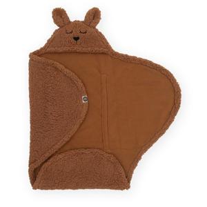 fleece wikkeldeken Bunny caramel