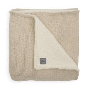 baby wiegdeken teddy 75x100cm Bliss knit nougat