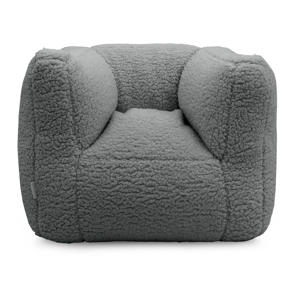 fauteuiltje Beanbag teddy grijs