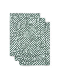 Jollein hydrofiel washandje hydrofiel - set van 3 Snake ash green, Groen