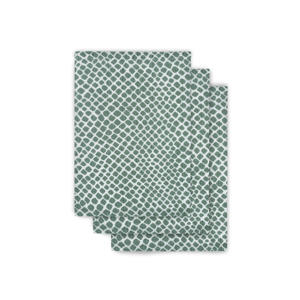 hydrofiel washandje hydrofiel - set van 3 Snake ash green