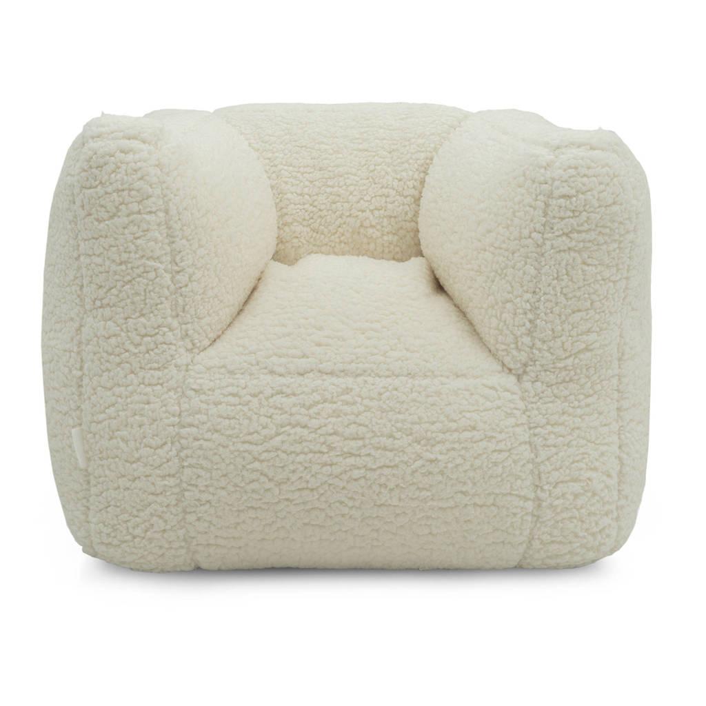Jollein fauteuiltje Beanbag teddy white, Ecru