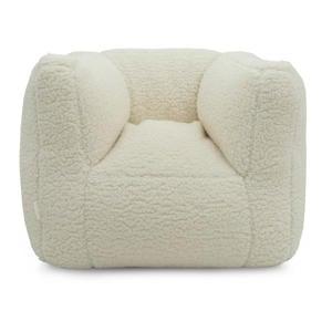 fauteuiltje Beanbag teddy white