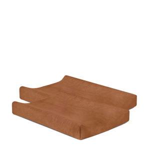 aankleedkussenhoes badstof 50x70cm - set van 2 caramel