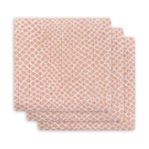 hydrofiel multidoek small 70x70cm - set van 3 Snake pale pink