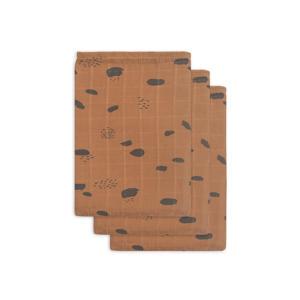hydrofiel washandje hydrofiel - set van 3 Spot caramel
