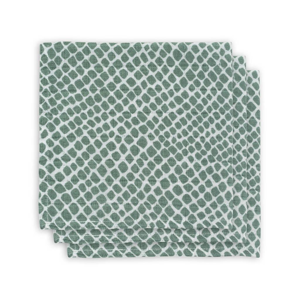 Jollein hydrofiel monddoekje - set van 3 Snake green, Groen