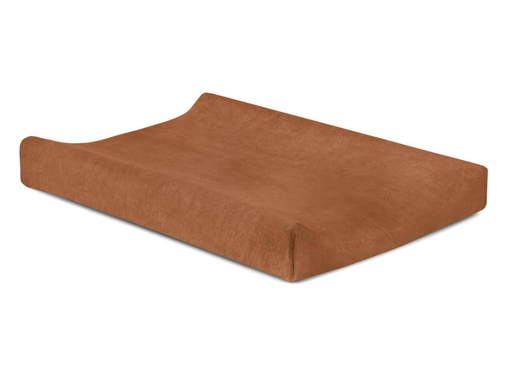 Jollein badstoffen aankleedkussenhoes 50x70cm caramel, Bruin