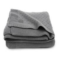 Jollein baby ledikant deken 100x150cm Bliss knit storm grey, Grijs