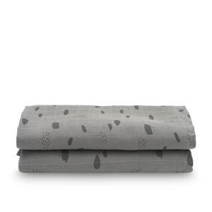hydrofiel multidoek large 115x115cm - set van 2 Spot grey