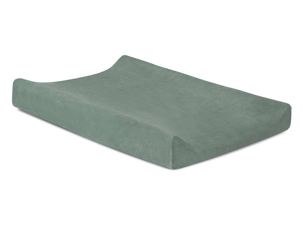 Jollein badstoffen aankleedkussenhoes 50x70cm green, Groen