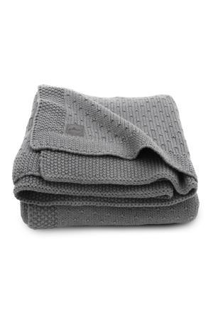 baby wiegdeken 75x100cm Bliss knit grey