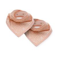 Jollein slab bandana Snake - set van 2 pink, Roze