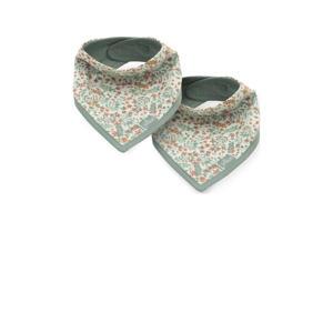 slab bandana bloemen - set van 2 groen
