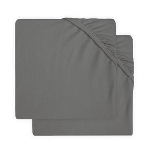 katoenen jersey ledikant hoeslaken 60x120cm - set van 2 grey