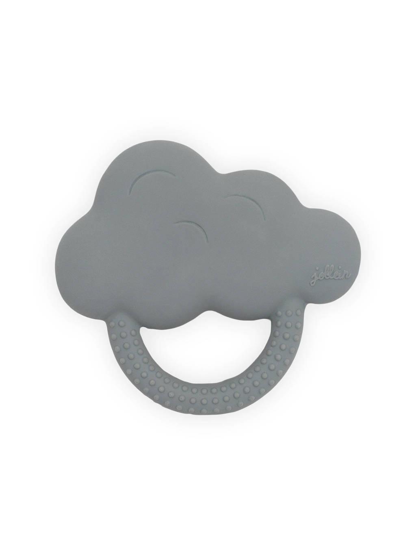 Jollein bijtring rubber Cloud storm grey, Grijs