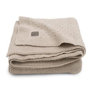 baby ledikant deken 100x150cm Bliss knit nougat