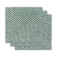 Jollein hydrofiel multidoek small 70x70cm - set van 3 Snake ash green, Groen